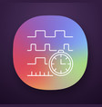timing diagram app icon signals set in time vector image