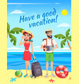tourists during summer holiday vector image vector image
