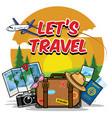 traveling cartoon set vector image vector image