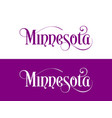 typography of the usa minnesota states vector image vector image