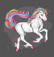unicorn full color rainbow majestic eyes vector image vector image