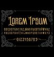 vintage font vector image vector image