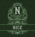 vintage label design template for nice product vector image