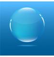 water blue bubble in ocean vector image