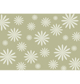 White flower on the silver background vector image vector image