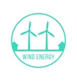 wind energy green logotype vector image vector image