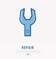 wrench thin line icon modern vector image