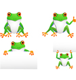 funny frog collection vector image