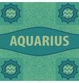 Hand-drawn zodiac Aquarius with ethnic floral vector image
