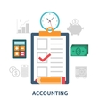 Accounting concept icons flat vector image