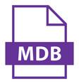 file name extension mdb type