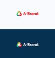 A-Brand letter stroke logo vector image vector image