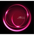 Abstract background with luminous swirling vector image vector image