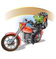 alligator on a motorbiker vector image vector image