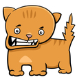 angry kitten cartoon character vector image vector image