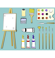 art supplies painting vector image vector image