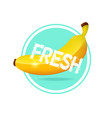 banana label design fresh tropical juice sticker vector image