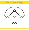 Baseball field icon vector image vector image