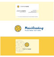 beautiful moon logo and business card vertical vector image