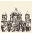 Berlin Cathedral Berliner Dom Germany Hand drawn vector image vector image