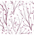 berries branch seamless ornament vector image vector image