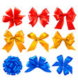 Big set of color gift bows with ribbons