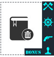 book icon flat vector image vector image