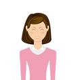 businesswoman avatar vector image vector image