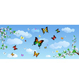 Butterflies in the sky vector image