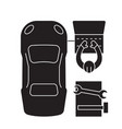 car diagnostics black concept icon car vector image