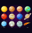 Cartoon solar system planets astronomical