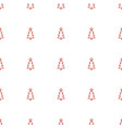 christmas tree icon pattern seamless white vector image vector image