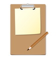 Clipboard with green read paper and pensil
