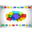 Colorful speech bubble background vector image vector image