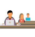 concept of the coworking center shared working vector image vector image