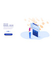 contactless payment concept for web page vector image