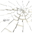 Cracked background vector image vector image