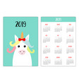 cute unicorn animal head face red bow simple vector image vector image