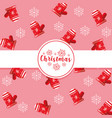 decorative christmas gloves pattern vector image