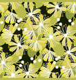 decorative linden flower seamless pattern vector image vector image