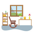 elderly household cartoon vector image