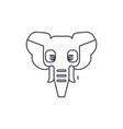 elephant india line icon sign vector image