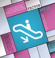 elevator Escalator Staircase icon sign Modern flat vector image