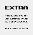 extra bold letters and numbers set vector image vector image