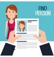 find person design vector image vector image