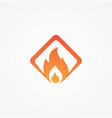 fire square shaped vector image vector image