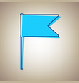 flag sign sky blue icon with vector image vector image
