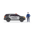 flat isolated policeman vector image vector image