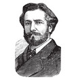 frederic auguste bartholdi vintage vector image vector image