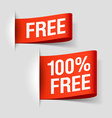 Free labels vector image